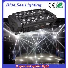 Горячий продавая двойной ряд 8 глаз вело свет луча головной свет 8 * 12w RGBW 4IN1 вел свет спайдера