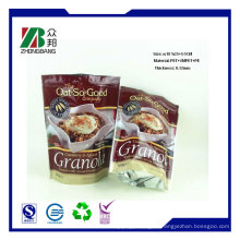 Высококачественная пластиковая плоская нижняя молния Упаковка для пищевых продуктов, сухая упаковка