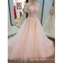 LS77340 short sleeve shawl latest dress designs photos bridal women gowns plus size