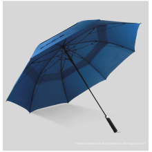 OEM Strong Windproof Automatic Long Umbrella Double Layer Golf Umbrella