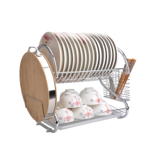 Dish rack on the kitchen tabletop