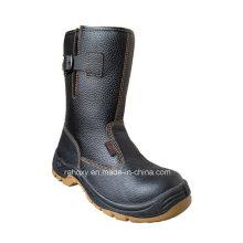 Diviser en relief cuir et PVC haute sécurité Rigger chaussures (HQ05058)