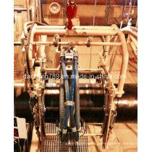 Sand Blastin und Derusting Machine auf Ölpfeife arbeiten
