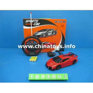 Jouet en plastique de vente chaude 1: 24 4-CH R / C voiture (1014503)
