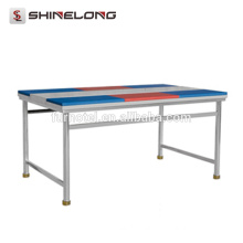 TS301 SS304 1.8m Stainless Steel Work Bench With 6 Chopping Boards