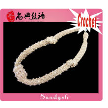 colar de moda colar de crochê de cordão de mão