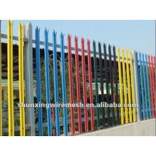 ISO9001 PVC revestido palisade cercas
