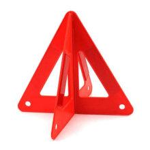 Panneau de signalisation triangulaire d'alarme de sécurité routière en plastique