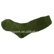 De punto de algodón suave de los hombres largos calcetines del ejército