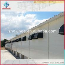 Leichte Stahlkonstruktion vorgefertigte leichte Stahlkonstruktion Industriehühner Häuser zum Verkauf