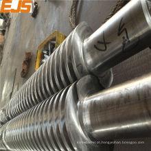 parafuso gêmeo cónico de 65/132 para processamento de PVC extrusora