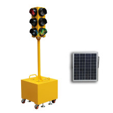 WDM Trolly solar mobile led traffic signal light
