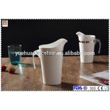 Keramik Großmilch Topf Porzellan Milchglas mit Kunststoffgriff