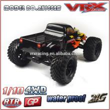 Única direção sistema brinquedo veículo, caminhão de construção do rc