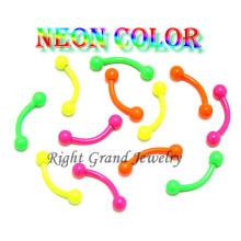 Exclusivo Candy cor anodizado anel personalizado da sobrancelha