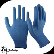 13 gauge knitted nylon liner coated water-based PU on palm gloves