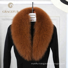 Top Grade big real blue fox fur collar luxury