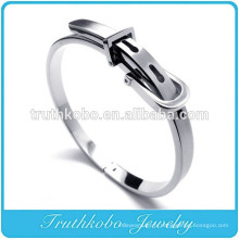 TKB- BA0006 Hommes En Acier Inoxydable Manchette Bijoux Argent Boucle De Ceinture Bracelet Bracelet Classique