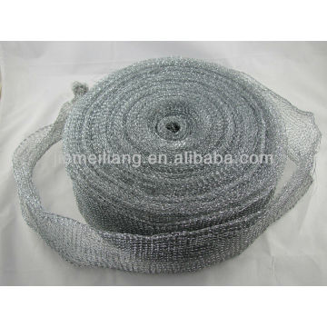 silver cleaning scrubber roll, metal scourer,mesh scourer galvanized mesh roll