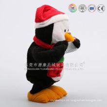 Ventas al por mayor barato pingüino parlantes juguetes de peluche electrónicos animados