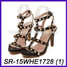 Zapatos baratos del tacón alto los zapatos más últimos de las señoras del alto talón zapatos del alto talón de las tendencias del citi para las mujeres