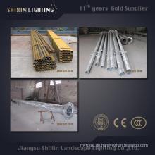 7m 9m 11m Außenbeleuchtung Q345 S355 Stahl Pole