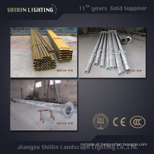 Pólo de aço exterior da iluminação Q345 S355 de 7m 9m 11m
