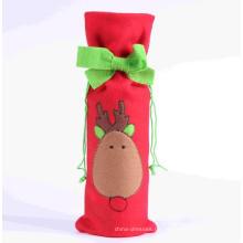 Weihnachtskleid Flaschenabdeckung Weinflaschendekoration