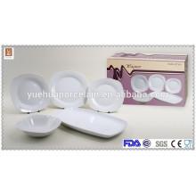 super white high quality ceramic tableware dinner set