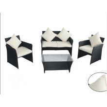 High Quality Black Europe Garden Furniture 4PCS Sets