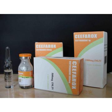 Ceftriaxona sódica inyectable BP 500MG