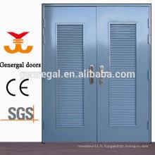 Porte en acier ISO9001 Glavanized avec grille d'aération