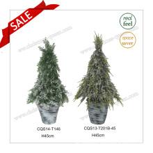 H45cm Multicolour Outdoor Plastic Decorative Pot Flower Artificial Plant