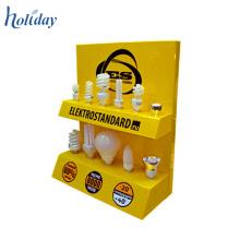 Merchandising Promotional zwei Tiers Tabletop Karton Display steht für Glühbirnen, Karton Arbeitsplatte Display