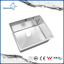 Manmade Stainless Steel Small Single Bowl Kitchen Sink (ACS6050R)