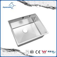 Pia de cozinha pequena e simples de aço inoxidável artificial (ACS6050R)