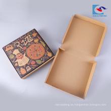 caja de embalaje corrugado de pizza personalizada con etiqueta privada