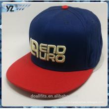 5 панелей Snapback шляпа с 3D emboridery хорошего качества делают в Китае