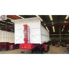 Semi-reboque caminhão basculante de cilindro hidráulico de 3 eixos