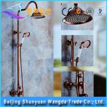 Design Elegante Clássico Bronze Chuveiro Shower Set Faucet para Acessórios de Banheiro