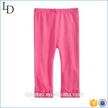 criança linda calça rosa de algodão crianças calça vestido para menina
