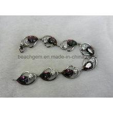 Мода браслет серебряный Мистик кварц ювелирные изделия (BR0034)