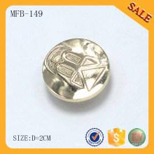 MFB149 Zinklegierung beweglicher kundenspezifischer Metallknopf für Jeans