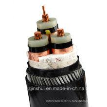0.6 / 1kv Cu проводника ПВХ Isnulation алюминиевой ленты ПВХ силовой кабель