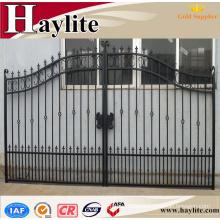 Sliding driveway decorative ornamental luxury garden automatic wrought iron fence gate