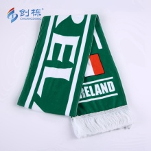 Customized Polyester Soccer Football Knitted Fleece Scarf