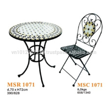 Muebles de mosaico - conjunto bistro