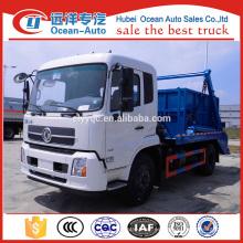 Dongfeng kingrun 8cbm capacidad de recogida de basura brazo oscilante