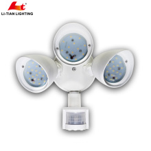 Luz de inundación llevada al aire libre de aluminio del sensor de movimiento de la luz de seguridad 10W 20W 30W