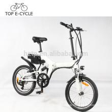 Hot selling foldable e bike 20inch full suspension electric folding bike
